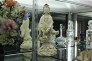 Sale 8324 - Lot 29 - Blanc de Chine Guanyin Figure Holding a Basket Stamped to the Base (Height - 35cm)
