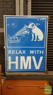 Sale 8383 - Lot 1088A - Large HMV Perspex Double Sided Shop Sign