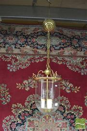 Sale 8406 - Lot 1174 - Hanging Glass Dome Lantern