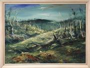 Sale 8716 - Lot 2093 - Andrew Lomninci - Snowy Country oil on board, 77 x 104cm, signed and dated lower right