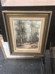 Sale 8874 - Lot 2032M - N. Norris, Among the Gumtrees, oil on board 57.5 x 47.5cm, signed lower right.