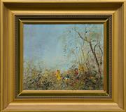 Sale 8960J - Lot 70 - David Boyd - Children Playing in the Forest oil on canvas