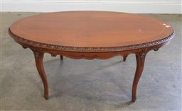 Sale 9188 - Lot 1275 - French style oval coffee table (h:47 c w:117 x d:73cm)