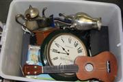 Sale 8346 - Lot 2306 - Box of Sundries incl. Teapot & Stereo