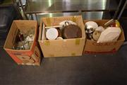 Sale 8346 - Lot 2120 - 3 Boxes of Sundries & Home Wares incl Spittoon