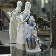 Sale 8379 - Lot 80 - Lladro Figure of a Maid & Lamb with a Smaller Figure of a Cold Boy