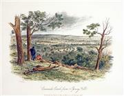 Sale 8549A - Lot 5084 - Samuel Thomas Gill (1818 - 1880) - Creswick Creek from Spring Hill 16.5 x 21cm (mount size: 31.5 x 35cm)