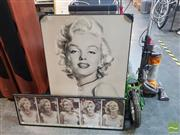 Sale 8548 - Lot 2070 - Marilyn Monroe (2) Photographic Print and Poster; 90 x 60cm; 30.5 x 92cm (frame sizes)