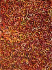 Sale 8611A - Lot 5043 - Selina Numina Napanangka - Bush Flower Leaves 143 x 114cm