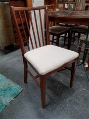 Sale 8684 - Lot 1067 - Set Of Six Teak Dining Chairs