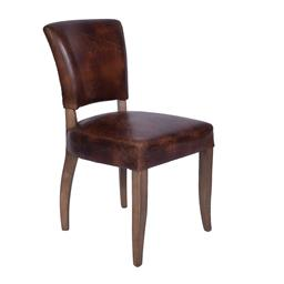 Sale 9140F - Lot 136 - A set of 6 vintage leather armchairs in waxed aged leather with gold stud detailing & briar smoke coloured legs. Dimensions: W47 x D...