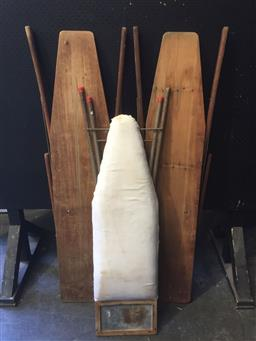 Sale 9152 - Lot 2476 - Collection of vintage timber ironing boards