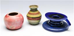 Sale 9164 - Lot 510 - Three Australian pottery items to include chamber