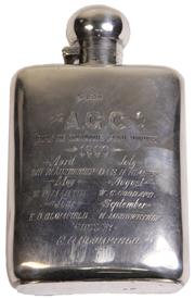 Sale 7974 - Lot 51 - English Hallmarked Sterling Silver Victorian Hip Flask