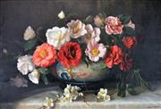 Sale 8000 - Lot 173 - Albert Sherman (1882 - 1971) - Camellias and White Blossom oil on canvas