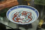 Sale 8189 - Lot 47 - Famille Rose Dragon Plate