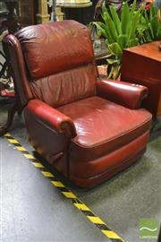 Sale 8262 - Lot 1038 - Leather Moran Chesterfield Reclining Armchair
