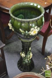 Sale 8299 - Lot 1025 - Ceramic Jardiniere on Stand