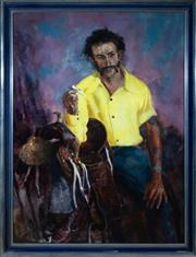 Sale 8800 - Lot 25 - George S Crossley - The Stockman 120 x 89cm