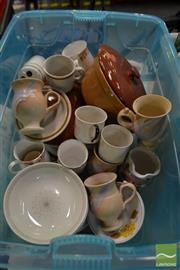 Sale 8495 - Lot 2098 - Box of Ceramics including 2 Diana pots and Royal Doulton plates, cups etc