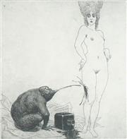 Sale 8514A - Lot 5071 - Norman Lindsay (1879 - 1969) - Journalism and Art 15 x 14cm