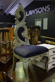 Sale 8566 - Lot 1704 - A Gilded HighBack Upholstered Chair