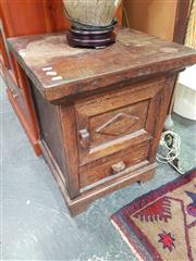 Sale 8672 - Lot 1034 - Timber Cabinet with Single Door & Drawer