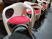 Sale 8765 - Lot 1011 - Set of Four Casala Chairs with Velvet Upholstered Seat