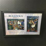 Sale 8805A - Lot 805 - Canterbury Bankstown Bulldogs 1995 NRL Premiers, framed