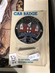 Sale 8797 - Lot 2427 - London Car Badge