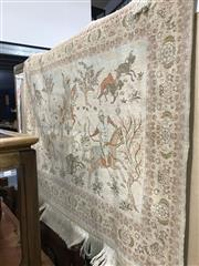 Sale 8893 - Lot 1024 - Wool and Silk Wall Hanging on rod