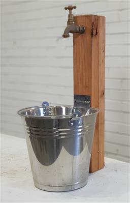 Sale 9174 - Lot 1422 - Tap and bucket water feature (h:60cm)