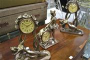 Sale 7981A - Lot 1061 - 3 Figural Clocks