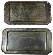 Sale 7995 - Lot 47 - Austro-Hungarian Silver Pair of Trays