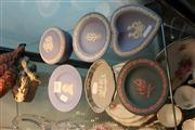 Sale 8195 - Lot 88 - Wedgwood Jasper Ware Container & Dishes