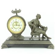 Sale 8279 - Lot 26 - Ansonia Late 19th Century Spelter Denis Papin Clock