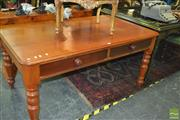 Sale 8386 - Lot 1020 - Cedar Clerks Desk with Two Drawers