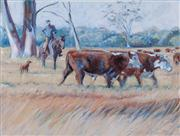 Sale 8677B - Lot 540 - Artist Unknown, The Herdsmen, acrylic on canvas, 91 x 122cm