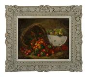 Sale 8716A - Lot 2 - An antique French still life oil by Jean Baptiste Gardel  1818-1874, oil on canvas signed in a French period frame, 33 x 41 cm