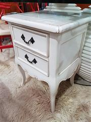 Sale 8740 - Lot 1132 - Timber Side Table with Two Drawers