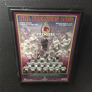 Sale 8805A - Lot 832 - Brisbane Broncos 2006 NRL Premiers, framed