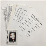 Sale 8926M - Lot 75 - Collection of Equipment Lists and Requirements for Jimmy Barnes Tour 1998