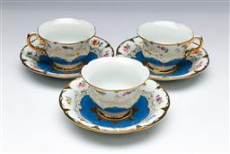 Sale 9093 - Lot 50 - A Set Of Three Meissen Cup And Saucer Duos