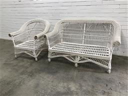 Sale 9102 - Lot 1305 - Cane 2 Piece Patio Suite