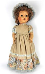 Sale 8330T - Lot 100 - A 1950s Pedigree Doll; 1st series walking doll with flirty eyes and original mohair wig, 21.