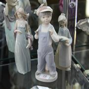 Sale 8379 - Lot 18 - Lladro Matte Finish Figure of a Whippersnapper with 2 Lladro Figures