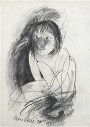 Sale 8466A - Lot 5096 - Anne Hall (1946 - ) (2 works) - Seated Nude, 1978; Mother and Child, 1978 108 x 75cm; 100 x 70.5cm (sheet size)