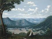 Sale 8538 - Lot 534 - Alfred William Eustace (1820 - 1907) - The Ups and Downs of Australia 44.5 x 60cm