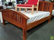 Sale 8550 - Lot 1423 - Timber Double Bed