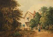 Sale 8631 - Lot 2008 - Artist Unknown (C19th) - English Country Scene 30 x 43cm